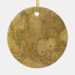 Ornamento del mapa de los E.E.U.U. Ornamentos Para Reyes Magos