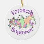 Ornamento del mapa de Voronezh Rusia Adorno
