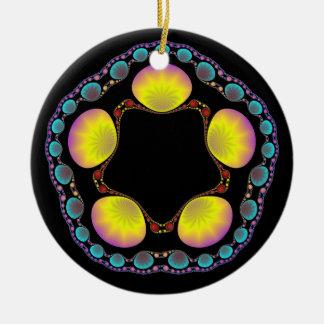 Ornamento del marco de la concha de berberecho ornamento para arbol de navidad