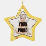 Ornamento del marco de la foto de la estrella del ornamente de reyes
