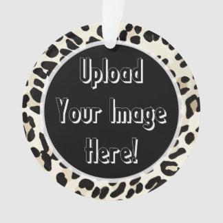 Ornamento del marco del estampado leopardo de la