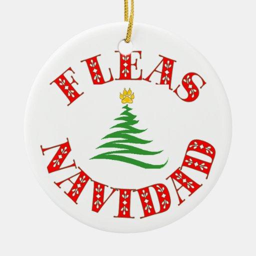 Ornamento del mascota de Navidad de las pulgas Ornamentos De Navidad