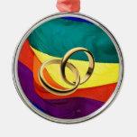 Ornamento del matrimonio homosexual ornamento de navidad