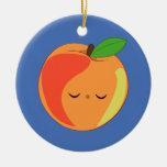 Ornamento del melocotón de Kawaii Lil soñoliento' Ornamento De Navidad