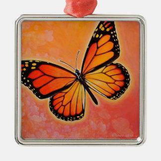 Ornamento del monarca que agita ornamentos de navidad
