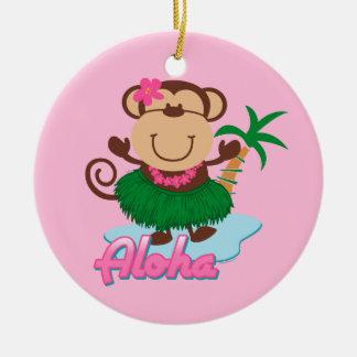 Ornamento del mono de la hawaiana adornos de navidad