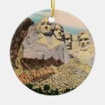 Ornamento del monte Rushmore Adorno Redondo De Cerámica