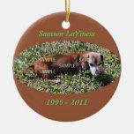 Ornamento del monumento de la foto del mascota ornaments para arbol de navidad