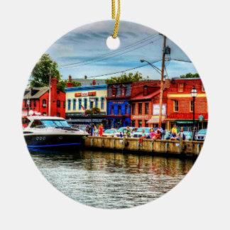 Ornamento del muelle de la ciudad de Annapolis Ornamentos De Navidad