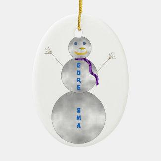 Ornamento del muñeco de nieve de la curación SMA Adorno Ovalado De Cerámica
