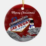 Ornamento del muñeco de nieve de Las Vegas de las  Ornamentos De Reyes Magos