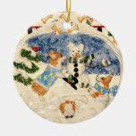 Ornamento del muñeco de nieve del Corgi Adornos