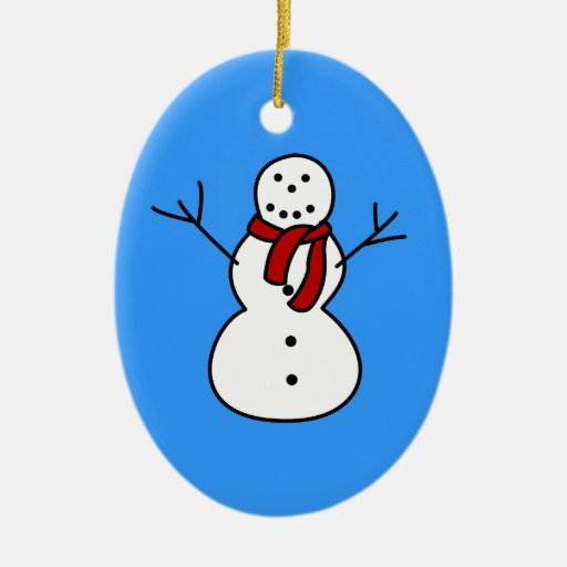 Ornamento del muñeco de nieve del invierno ornato