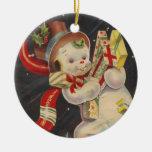 Ornamento del muñeco de nieve del vintage ornatos