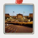 Ornamento del museo de arte de Philadelphia Adorno Cuadrado Plateado