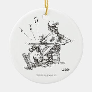 Ornamento del músico de la sierra de cinta adorno para reyes