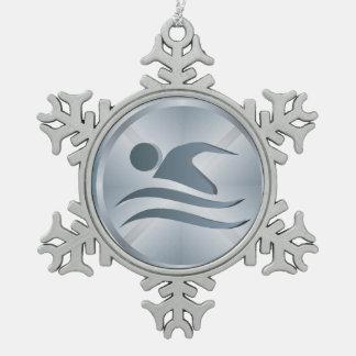 Ornamento del nadador - SRF Adorno De Peltre En Forma De Copo De Nieve