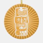 Ornamento del naranja de Tiki Adorno Para Reyes