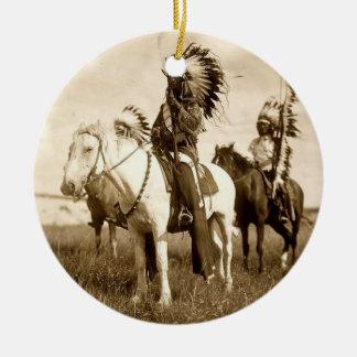 Ornamento del nativo americano ornaments para arbol de navidad