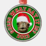 Ornamento del navidad 2013 de Santa del camello de Ornamento Para Arbol De Navidad
