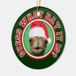 Ornamento del navidad 2013 de Santa del camello de Ornamento Para Reyes Magos