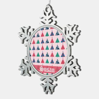 Ornamento del navidad adorno de peltre en forma de copo de nieve