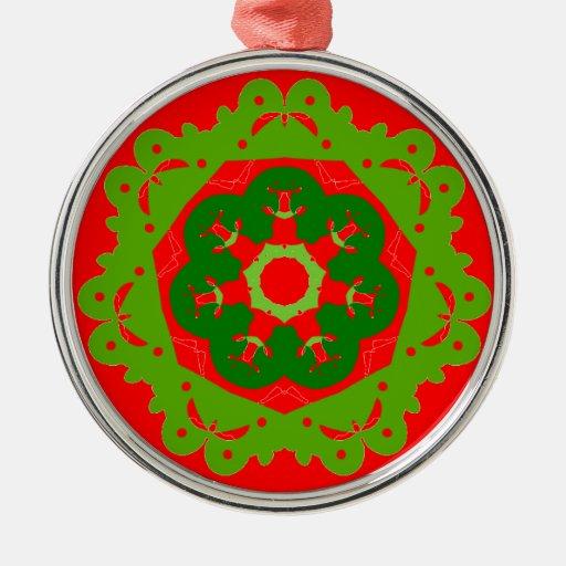 Ornamento del navidad adorno navideño redondo de metal