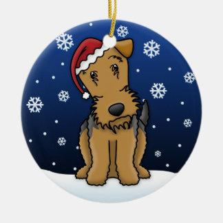 Ornamento del navidad de Airedale Terrier del dibu Ornamento Para Reyes Magos