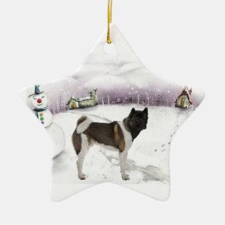 Ornamento del navidad de Akita Ornamento De Reyes Magos