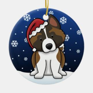 Ornamento del navidad de Akita del dibujo animado Ornamento De Navidad