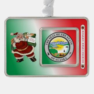 Ornamento del navidad de Alaska Papá Noel Adornos Con Foto