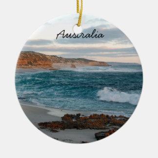 Ornamento del navidad de Australia Adorno Navideño Redondo De Cerámica