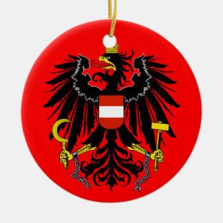 Ornamento del navidad de AUSTRIA* Adorno Redondo De Cerámica