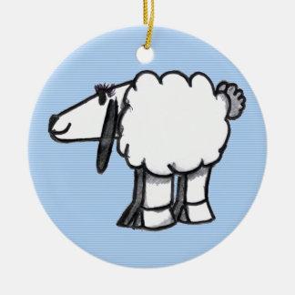 Ornamento del navidad de Babys de las ovejas del Adorno