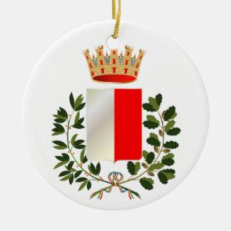 Ornamento del navidad de Bari* Italia Adorno Navideño Redondo De Cerámica