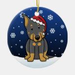 Ornamento del navidad de Beauceron del dibujo anim Adornos De Navidad