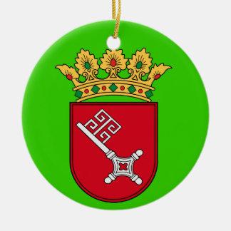 Ornamento del navidad de Bremen* Adorno Navideño Redondo De Cerámica