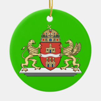 Ornamento del navidad de Budapest Hungría Adorno Redondo De Cerámica