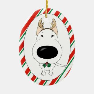 Ornamento del navidad de bull terrier ornamento para arbol de navidad