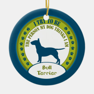 Ornamento del navidad de bull terrier el | adorno para reyes