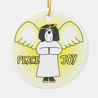 Ornamento del navidad de BW Havanese del ángel de  Ornaments Para Arbol De Navidad