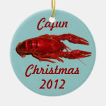 Ornamento del navidad de Cajun de los cangrejos Ornato