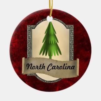 Ornamento del navidad de Carolina del Norte Ornamento De Navidad