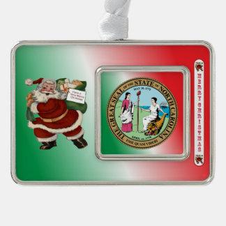 Ornamento del navidad de Carolina del Norte Papá Adornos Con Foto