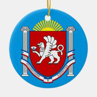 Ornamento del navidad de Crimea* Adorno Navideño Redondo De Cerámica