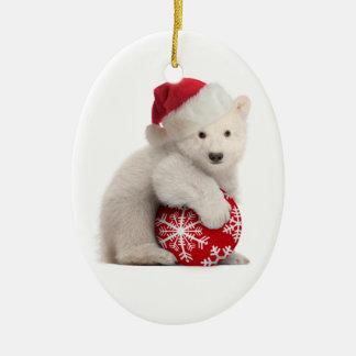 Ornamento del navidad de Cub del oso polar Ornamento De Navidad
