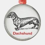 Ornamento del navidad de Dachsie del Dachshund Ornatos