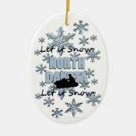 Ornamento del navidad de Dakota del Norte de la ni Adornos
