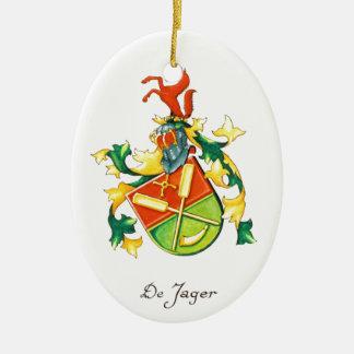 Ornamento del navidad de DeJager Adorno Navideño Ovalado De Cerámica