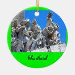 Ornamento del navidad de Discoveries* del Adorno Navideño Redondo De Cerámica